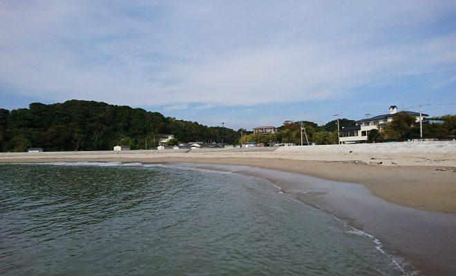 月浜の浜辺